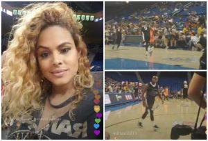 Liza nuevamente con Floyd Mayweather, lo fue a ver a un partido de básquet