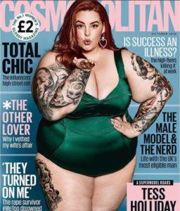Rompiendo estereotipos! Tess Holliday muestra su cuerpo talla XXL en la portada de Cosmopolitan