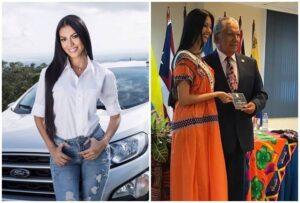 Le regalan beca universitaria y auto a Rosa Montezuma por ser Señorita Panamá